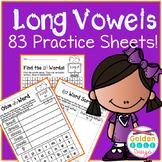 Long Vowel Patterns 83 No Prep Practice Worksheets! 21 Spelling Patterns