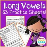 Long Vowel Patterns 83 No Prep Worksheets! 21 Patterns Wor