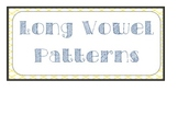 Long Vowel Patterns Anchor Chart