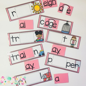 Long Vowel Patterns Build a Word - Phonics Alternative Spelling