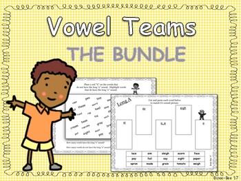 Vowel Teams - The Bundle
