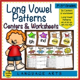 Long Vowel Patterns Centers & Activities