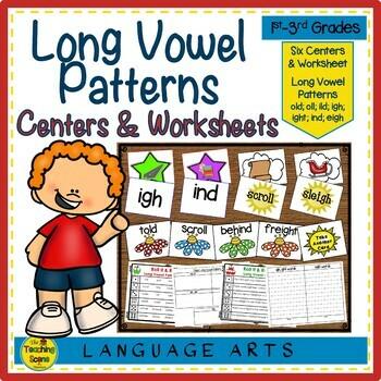 Long Vowel Patterns Centers & Activities