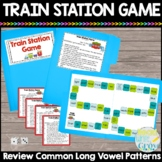 Long Vowel Patterns File Folder Game {Train Station Game}