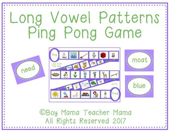 Long Vowel Patterns Ping Pong Game