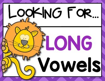 Digraph Long Vowel Posters Kindergarten and First Grade ELA