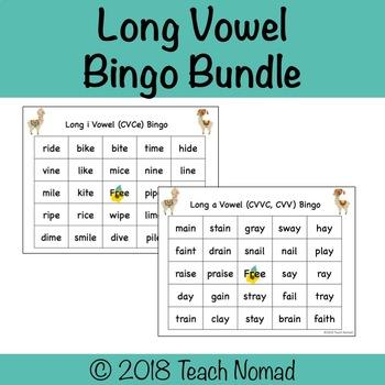 Long Vowel Phonics Bingo Bundle