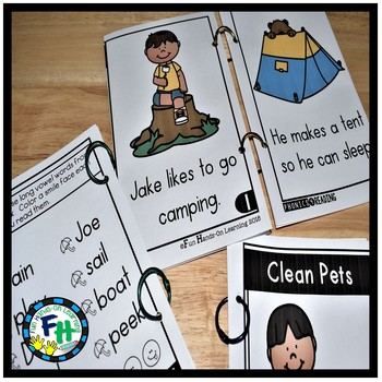 Long Vowel Phonics Books {Easy Readers}
