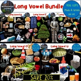 Long Vowel Phonics Clip Art Bundle 192 Photo & Artistic Digital Stickers
