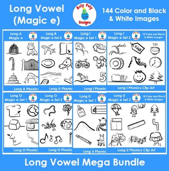 Long Vowel Phonics Clip Art Mega Bundle