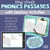 Long Vowel Phonics Passage Assessments