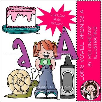 Long Vowel Phonics clip art - A - Mini - Melonheadz Clipart