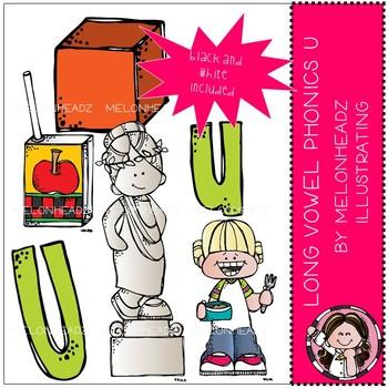 Long Vowel Phonics clip art - U - Mini - Melonheadz Clipart