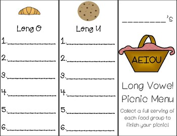 Long Vowel Picnic Unit *Room Transformation Ideas*