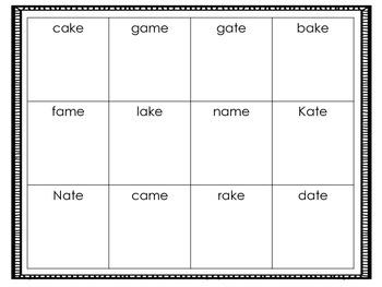 Long Vowel Picture Boxes