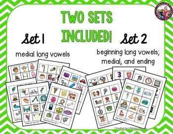 Long Vowel Picture Cards! Set #3 Great for Sound Sorting!