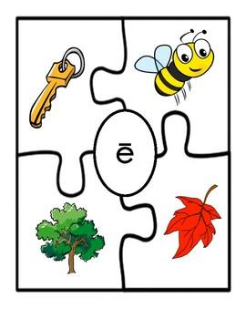 Long Vowel Picture Puzzle