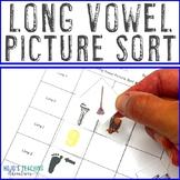 Long Vowel Picture Sort | Long Vowels Worksheet | Long Vowels Assessment