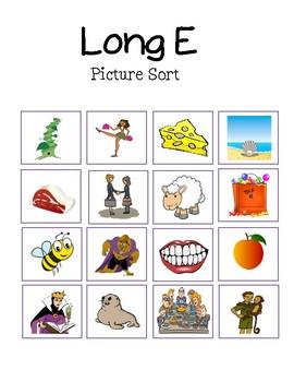 Long Vowel Picture Sort BUNDLE