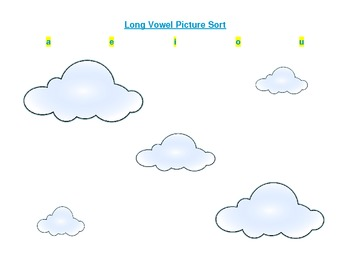 Long Vowel Picture Sort with Recording Sheet
