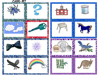 Long Vowel Lotto Match-up Words and Pictures in Color and BW