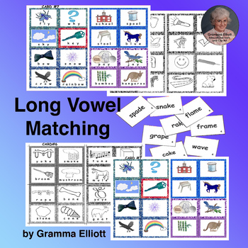 Long Vowel Match-up Words and Pictures in color and BW