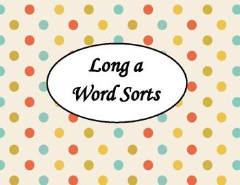 Long Vowel Polka Dot Sorts (CVCe, ai, ay, ea, ee, y, igh, ie, oa, ow, ew, oo)