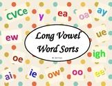Long Vowel Polka Dot Sorts (CVCe, ai, ay, ea, ee, y, igh,