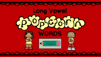 Long Vowel Popcorn Word Sort