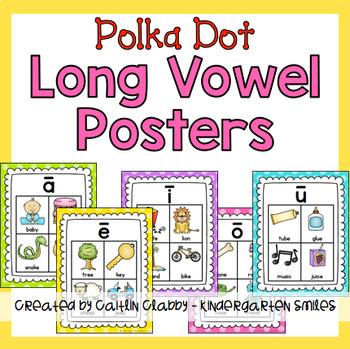 Long Vowel Posters (Polka Dot)