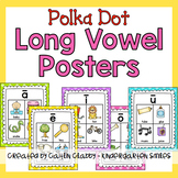 Long Vowel Posters (Polka Dot)