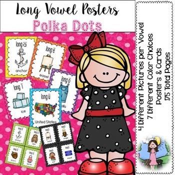 Long Vowel Posters (polka dots)