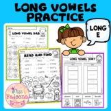 Long Vowel Practice - Long E