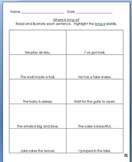 Long Vowel Practice Pages