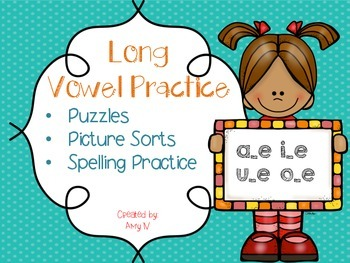 Long Vowel/Silent E Activities- Puzzles and Picture Sorts