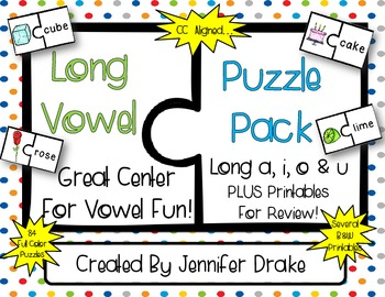Long Vowel Puzzle Pack for all 4 Long Vowels ~84 Puzzles~