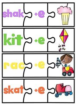 Long Vowel Puzzles. Adding Silent E.