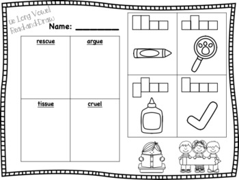 Long Vowel Read-and-Draw Bundle {20 activities}