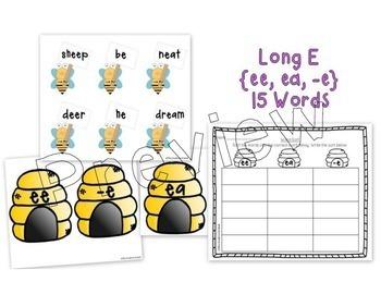 Long Vowel Read and Write the Room / Word Sort Bundle