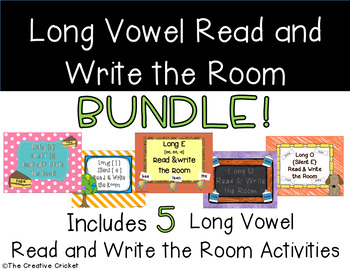 Long Vowel Read and Write the Room / Word Sort Bundle