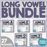 Long Vowel Reading Passage BUNDLE! - A E I O U - passage for each pattern!