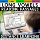 Long Vowel Reading Passages - Fluency and Skill Based Comprehension Notebook
