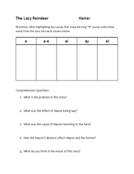Long Vowel Reading Passages and Assignments - ALL 5 Vowel Reading BUNDLE!