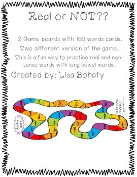 Long Vowel- Real or Nonsense Words Games