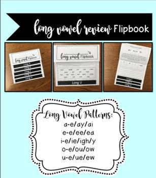 Long Vowel Review Flipbook