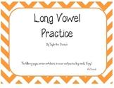 Long Vowel Review Practice