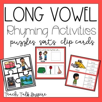 Long Vowel Rhyming Activities