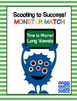 Long Vowel Rhyming Match Scoot Game