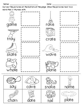 Long Vowel Rhyming Practice