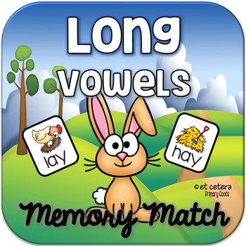 Long Vowel Rhyming Words Memory Match ~ Interactive PowerP